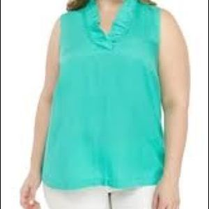 Crown and Ivory ruffle neck top
